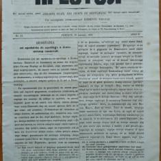 Ziarul religios, Preotul, foaie saptamanala, nr. 21, 1862, chirilica