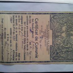 CERTIFICAT DE CUNUNIE 1952-RAR ACEST MODEL - Diploma/Certificat