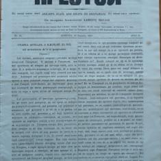 Ziarul religios, Preotul, foaie saptamanala, nr. 20, 1862, chirilica