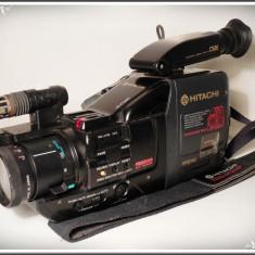APARAT DE FILMAT VINTAGE DIN ANII 1990 - HITACHI VM-C52E, CAMERĂ VIDEO VECHE! - Aparat Filmat
