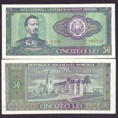 ROMANIA 50 LEI 1966 [02] P-96a, a UNC, aproape necirculata - Bancnota romaneasca