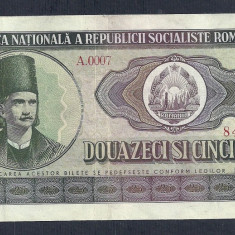 ROMANIA 25 LEI 1966, XF++ [12] P-95a - Bancnota romaneasca