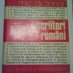 SCRIITORI ROMANI - MIC DICTIONAR - MIRCEA ZACIU ( coord. ) ( 262 )