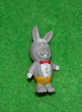 Figurina, jucarie, iepure, iepuras din desene animate, cauciu, anii '80, 4 cm