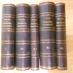 MOMMSEN--DREPT ROMAN - ROMISCHES STAATSRECHT - 3 VOL. IN 5 CARTI - 1887-1888