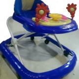 Premergator muzical cu volan avem albastru si rosu, 1-3 ani