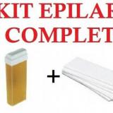 Kit epilare format din :incalzitor ceara, ceara, benzi epilare ulei dupa epilat - Kit epilare ceara