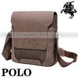 POLO OXFORD – geanta de umar verticala din piele + material tip Oxford