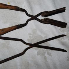 Foarte vechi ondulatoare de par, obiecte de ondulat parul - Metal/Fonta