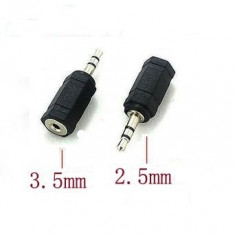 Adaptor jack 3.5mm la 2.5mm pentru telefon iPhone iPod iPad mp3 3.5 mm 2.5 mm Nokia Samsung casti mp3 player