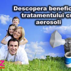Aparat aerosoli portabil cu ultrasunete nebulizator inhalator silentios sigilat - Aparat aerosoli copii Altele, Altele