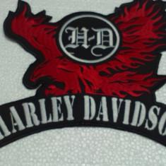 Patch Harley Davison Eagle Rosu