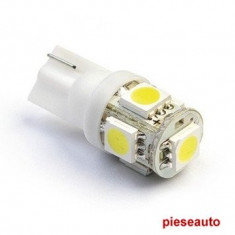 Leduri pozitie 5 smd t10 - Led auto NSSC Lighting