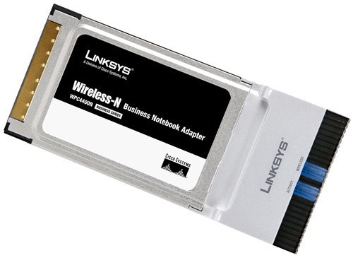 Linksys WPC4400N Wireless N PCMCIA Notebook Network Adapter