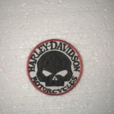 Patch Boderie Harley Davison Craniu