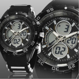 NOU-Superb Ceas militar/sport Dual Display rezistent la Apa,Timer,StopWatch
