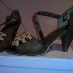 Sandale dama, Culoare: Maro, Marime: 37, Piele sintetica