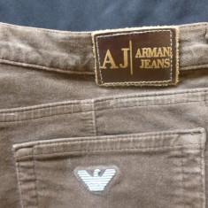 Blugi Armani Jeans, Comfort Fit, Eco Wash, Made in Italy; marime 30, vezi dim. - Blugi barbati, Culoare: Din imagine