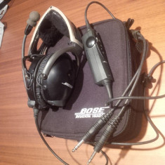 Casti Bose Aviation X, Casti Over Ear, Cu fir, Jack de 6.3 mm, Active Noise Cancelling