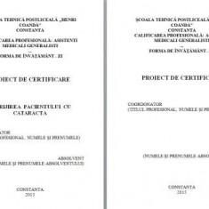 LUCRARE DE LICENTA A.M.G. - INGRIJIREA PACIENTILOR CU CATARACTA - Carte Oftalmologie