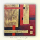 Tablou Abstract 19 - ulei pe panza 75x75cm - Reproducere