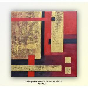 Tablou Abstract 19 - ulei pe panza 75x75cm