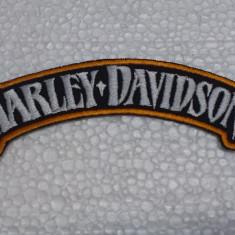 Patch Broderie Harley Davison rotund