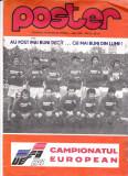 Poster fotbal - ROMANIA - Campionatul European FRANTA 1984