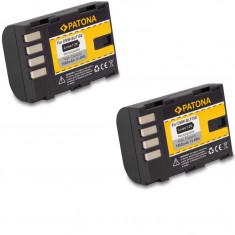1 PATONA | 2 Acumulatori Panasonic DMC-GH3 DMC-GH3A DMW-BLF19 BLF19E | 1860mAh - Baterie Camera Video