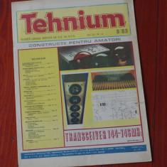 Revista Tehnium - anul XIII - ( nr 153 ) - nr 8 din 1983 !!!