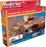 + Kit 1:72 Italeri 73006 - Valentine Mk.I + British Infantry +
