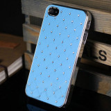 HUSA  PENTRU  IPHONE 5 SI 5S + CAP DOP ANTIPRAF CU PIETRICICA SAU STYLUS PEN CADOU, iPhone 5/5S/SE, Albastru, Alt material, Apple