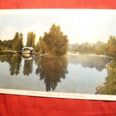 Ilustrata clasica - Craiova - Parcul Bibescu ,inc.sec.XX ,Ed.Maier si Stern, Circulata