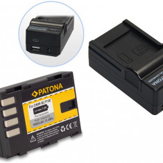 1 PATONA | Incarcator 4in1 + Acumulator Panasonic DMC-GH3 DMC-GH3A DMW-BLF19 E - Baterie Camera Video