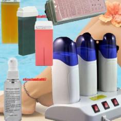 Incalzitor Ceara de Unica Folosinta Triplu cu Baza+ceara ulei benzi - Ceara epilare