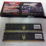 GeIL Black Dragon 2GB (Kit 2x1GB) DDR2, 800MHz, PC2-6400, CL 4-4-4-12 - Memorie RAM Geil, Dual channel