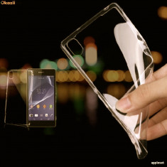 Husa SONY XPERIA Z2 L50W TPU Ultra Thin 0.3mm Transparenta Black - Husa Telefon Sony, Gel TPU, Fara snur, Carcasa