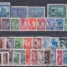 1930-1938 - LOT SAPTE SERII COMPLETE STAMPILATE