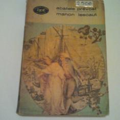 MANON LESCAUT - ABATELE PREVOST ( 208 ) - Roman, Anul publicarii: 1969