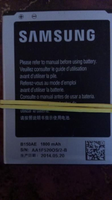Acumulator Samsung Galaxy Core I8260 Model  B150A / B150AE nou original foto mare