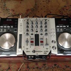2x Pioneer CDJ 200 + BEHRINGER PRO VMX200 - Console DJ