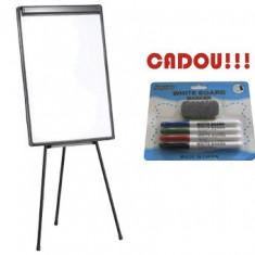 FLIPCHART MAGNETIC 70x100 cm + CADOU!!! (SET 4 MARKER WHITEBOARD + BURETE) - Flipchart Birotica