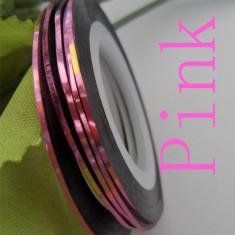 Banda decorativa pentru modele unghii de culoare roz deschis, benzi decorative - Model unghii