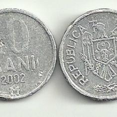MOLDOVA 10 BANI 2002 [3] livrare in cartonas, Europa
