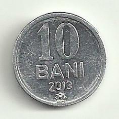 MOLDOVA 10 BANI 2013 [1] a UNC, livrare in cartonas, Europa, Aluminiu