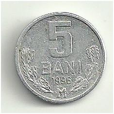 MOLDOVA 5 BANI 1996 [1] livrare in cartonas, Europa, Aluminiu
