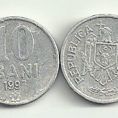 MOLDOVA 10 BANI 1997 [3] livrare in cartonas, Europa, Aluminiu