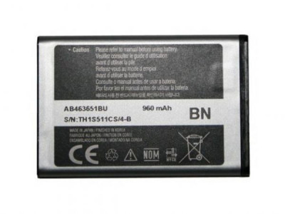Acumulator Samsung S3650 Corby cod: AB463651B / AB463651BA / AB463651BE / AB463651BEC / AB463651BU foto
