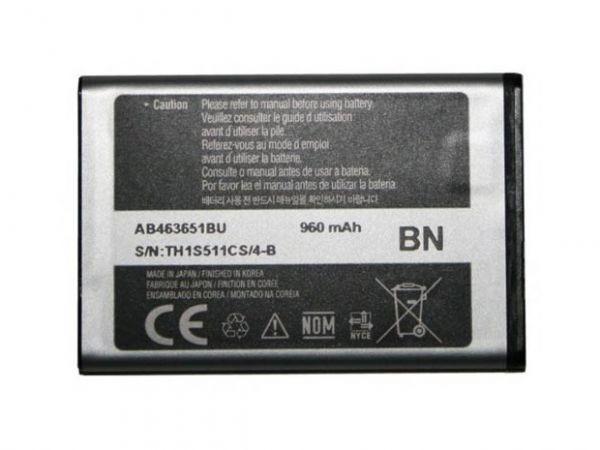 Acumulator Samsung S3650 Corby cod: AB463651B / AB463651BA / AB463651BE / AB463651BEC / AB463651BU
