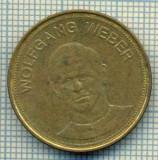 JETON 291 PENTRU COLECTIONARI - WOLFGANG WEBER  -TRAUM-ELF 1969 - SHELL -FOTBAL - GERMANIA -STAREA CARE SE VEDE